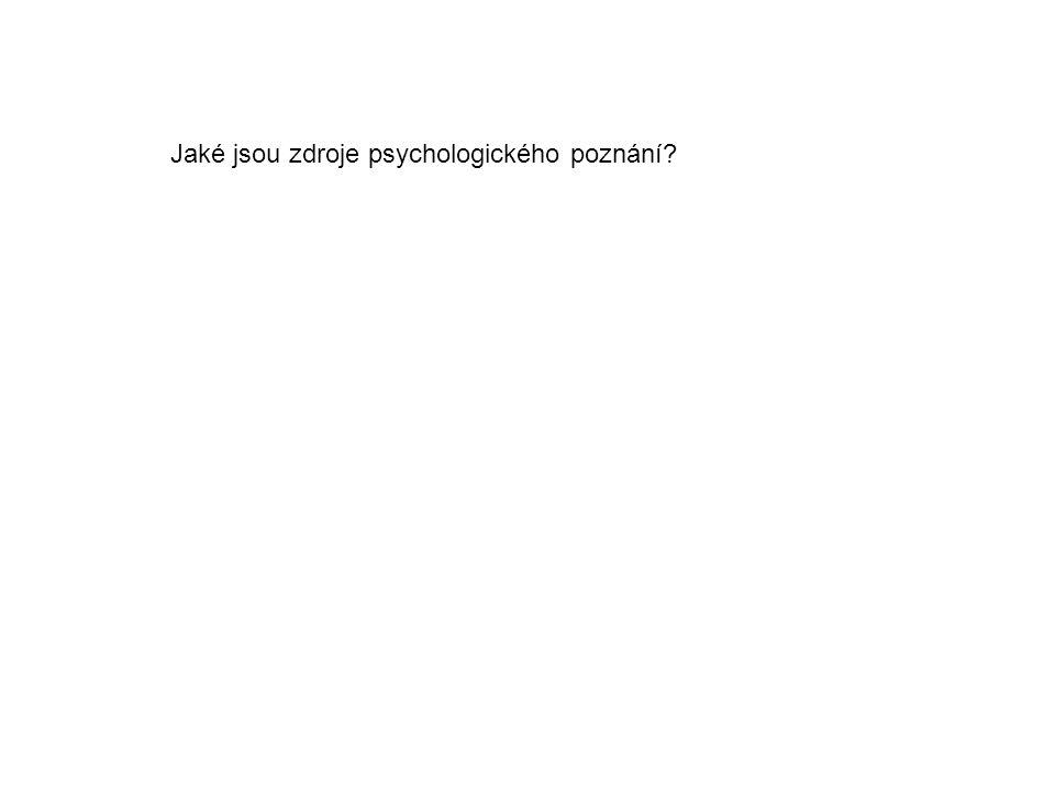 Jaké jsou zdroje psychologického poznání