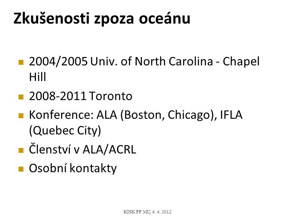 Informační vzdělávání KISK FF MU, 6. 4. 2012