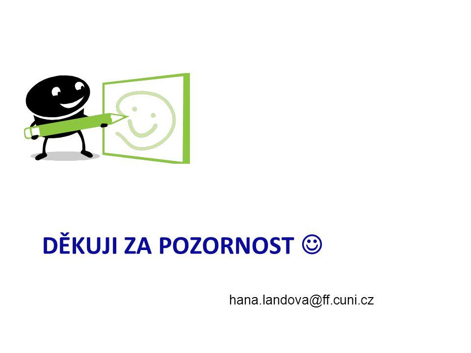hana.landova@ff.cuni.cz DĚKUJI ZA POZORNOST