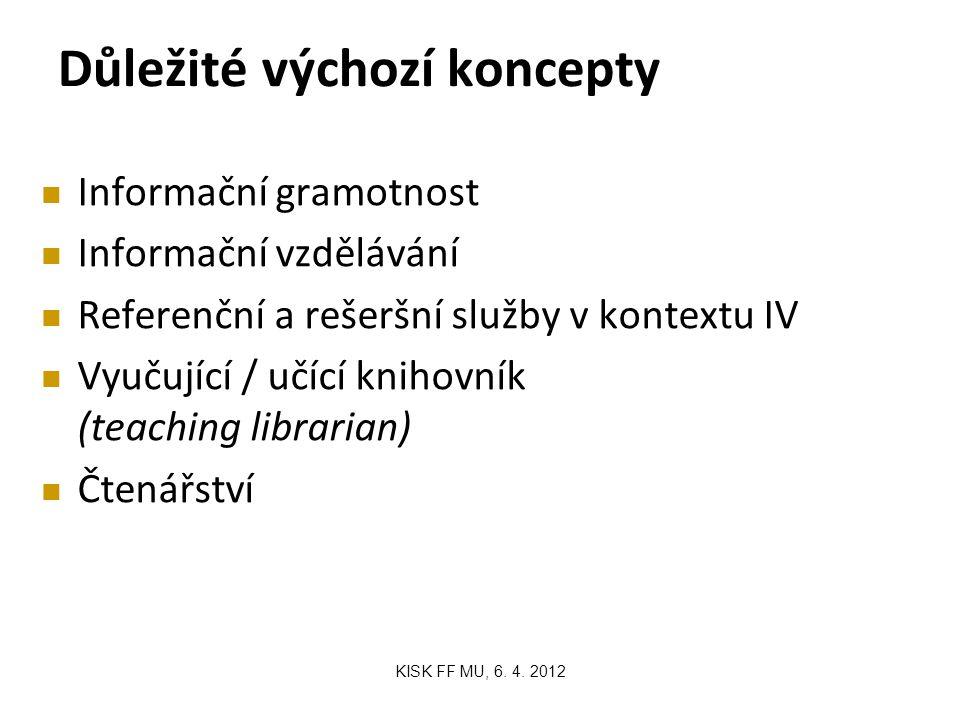 Několik postřehů na úvod KISK FF MU, 6.4.