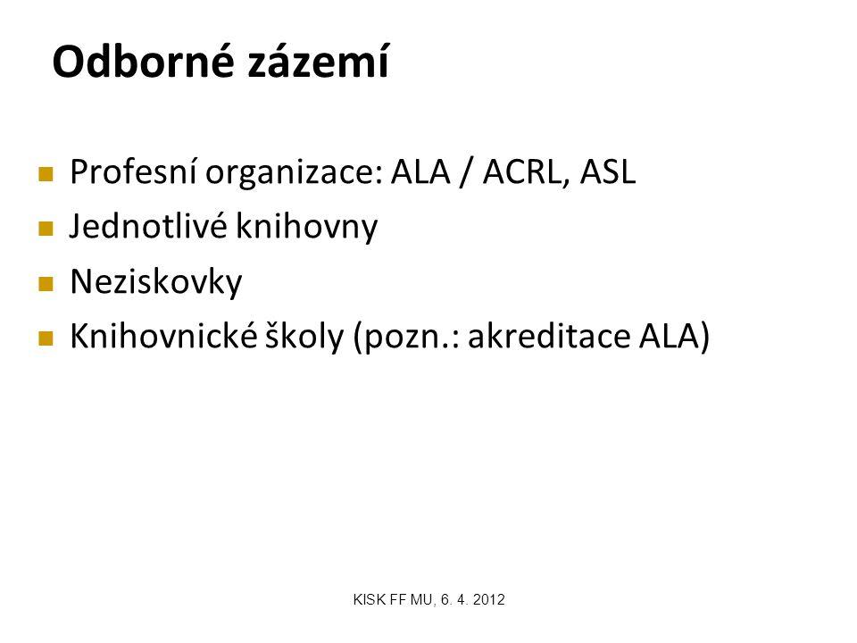 Odborné zázemí KISK FF MU, 6. 4.