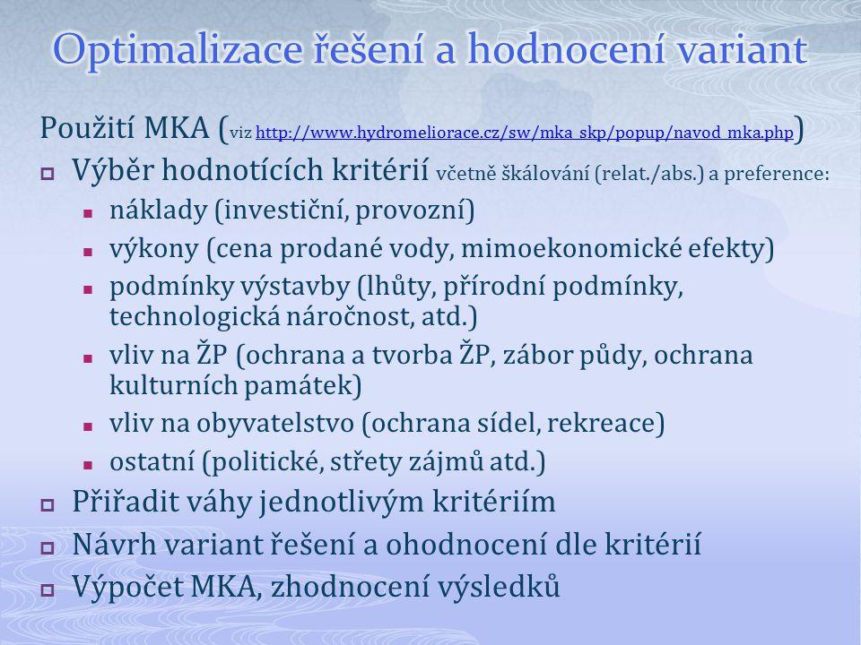 Použití MKA ( viz http://www.hydromeliorace.cz/sw/mka_skp/popup/navod_mka.php )http://www.hydromeliorace.cz/sw/mka_skp/popup/navod_mka.php  Výběr hod
