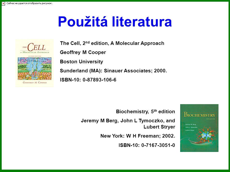 Použitá literatura The Cell, 2 nd edition, A Molecular Approach Geoffrey M Cooper Boston University Sunderland (MA): Sinauer Associates; 2000.