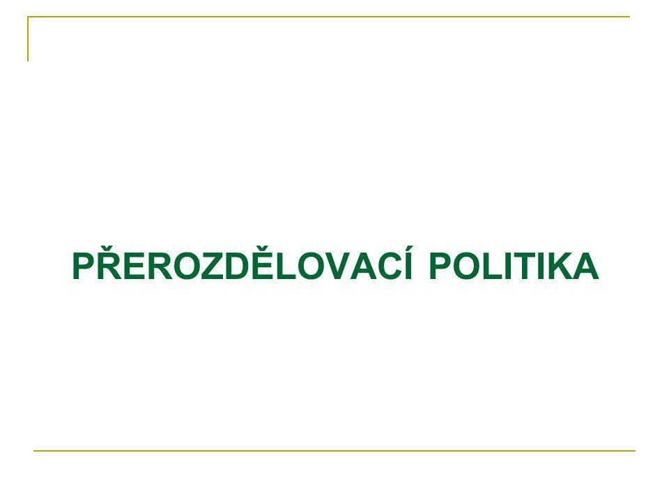 PŘEROZDĚLOVACÍ POLITIKA