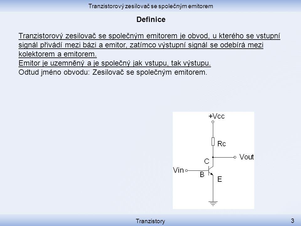 Tranzistorový zesilovač se společným emitorem je obvod, u kterého se vstupní signál přivádí mezi bázi a emitor, zatímco výstupní signál se odebírá mezi kolektorem a emitorem.