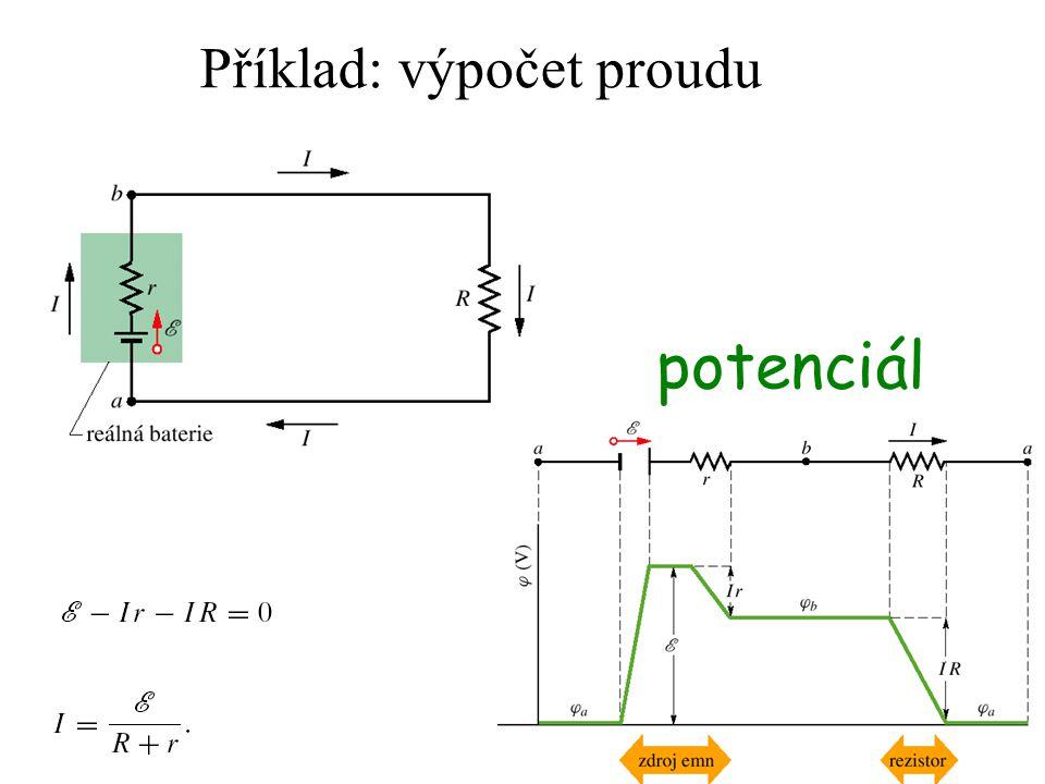 Příklad: výpočet proudu potenciál