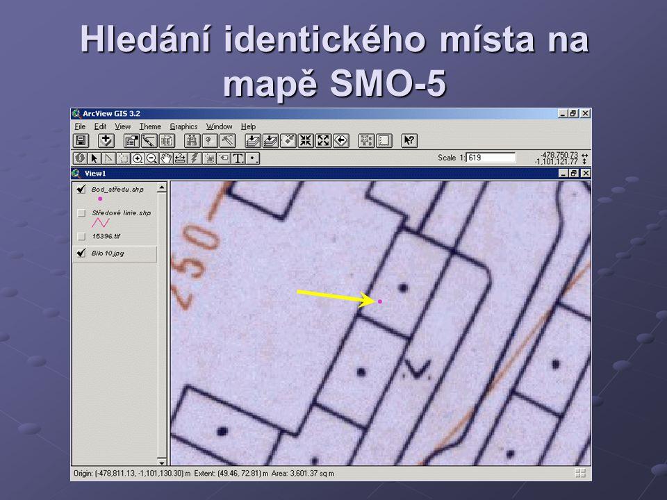 Hledání identického místa na mapě SMO-5