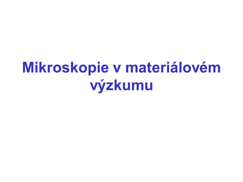 Mikroskopie v materiálovém výzkumu