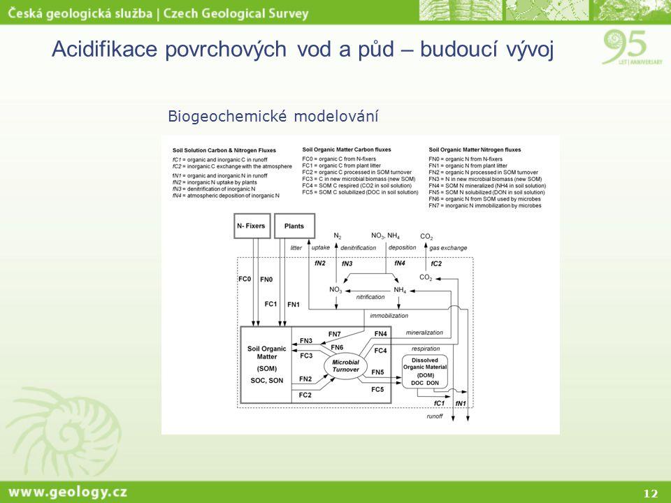 12 Acidifikace povrchových vod a půd – budoucí vývoj Biogeochemické modelování
