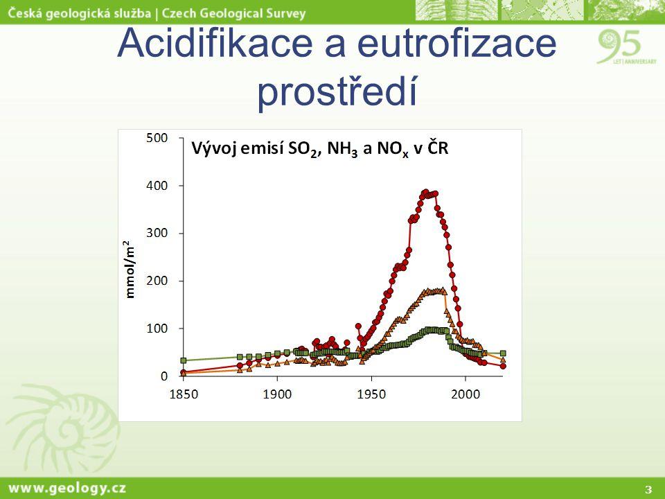 3 Acidifikace a eutrofizace prostředí