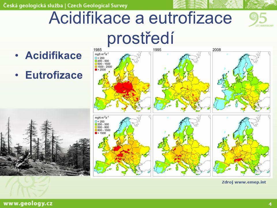4 Acidifikace Eutrofizace Zdroj www.emep.int