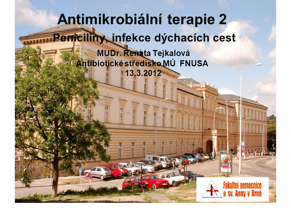 Pneumonie nozokomiální - etiologická agens časná pneumonie – obdobné spektrum bakterií jako u komunitních pneumonií pozdní pneumonie – enterobakterie, Staphylococcus aureus, Pseudomonas aeruginosa a jiné nefermentující tyčinky legionely pacienti v bezvědomí a po aspiraci: + anaeroby pacienti s výraznou imunosupresí: + kvasinky, vláknité houby,, mykobakterie, Pneumocystis jirovecii