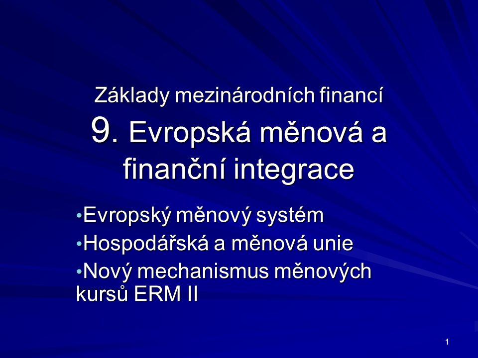 Základy mezinárodních financí 9.