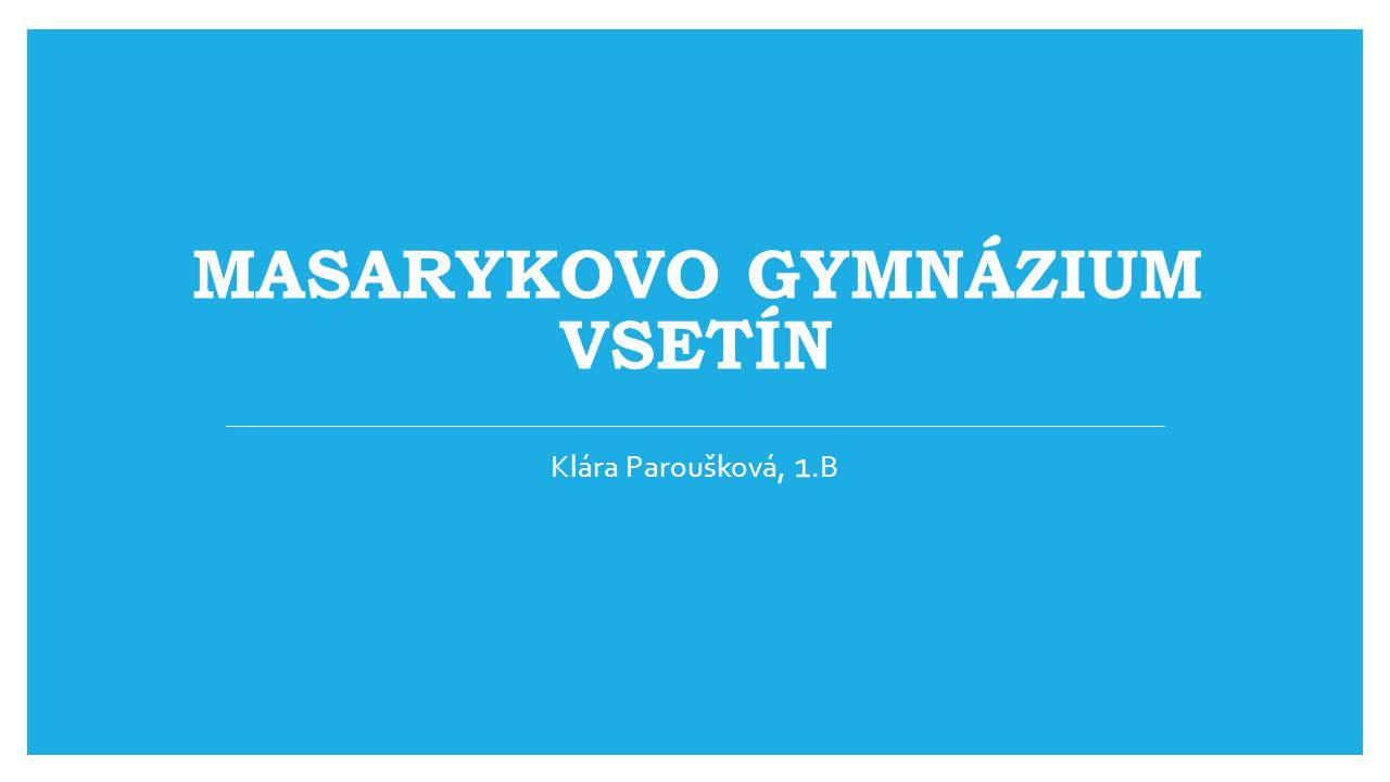 MASARYKOVO GYMNÁZIUM VSETÍN Klára Paroušková, 1.B