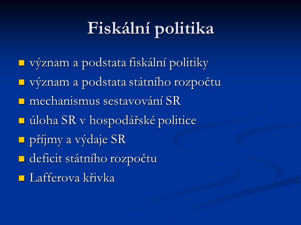 Fiskální politika význam a podstata fiskální politiky význam a podstata fiskální politiky význam a podstata státního rozpočtu význam a podstata státní