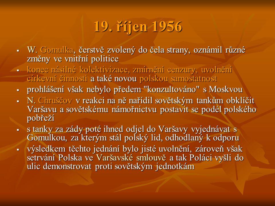 19. říjen 1956  W.