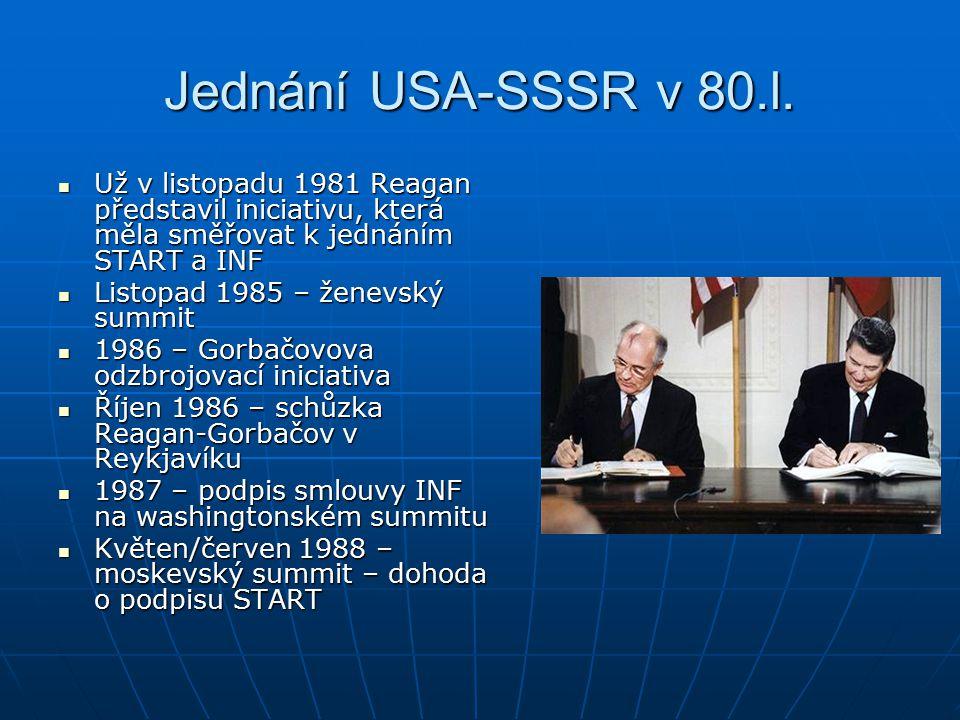 Jednání USA-SSSR v 80.l.