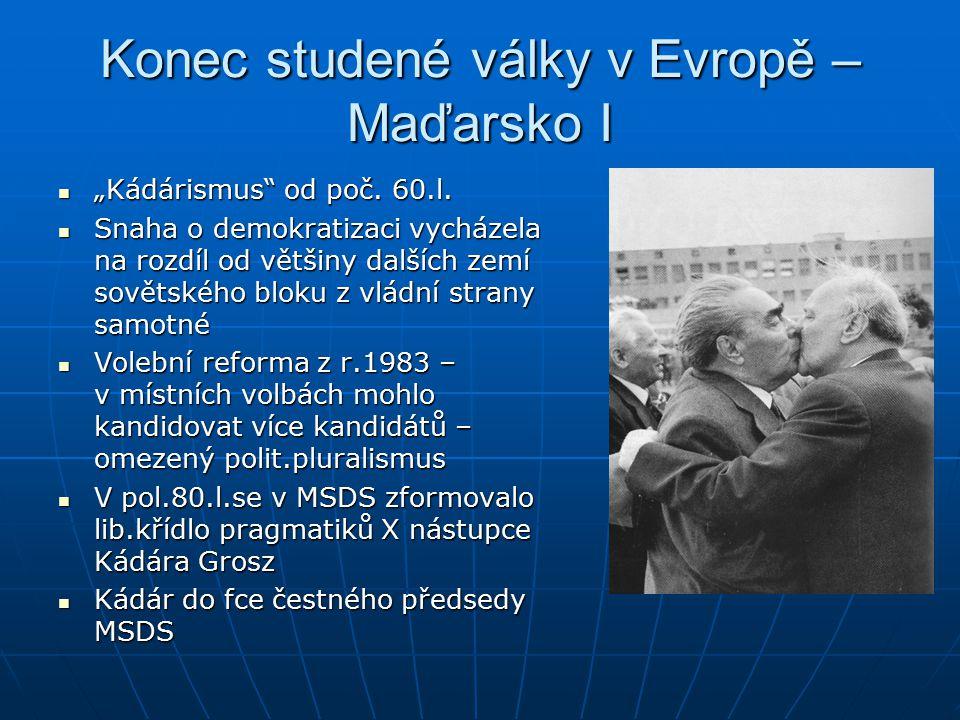 "Konec studené války v Evropě – Maďarsko I ""Kádárismus od poč."