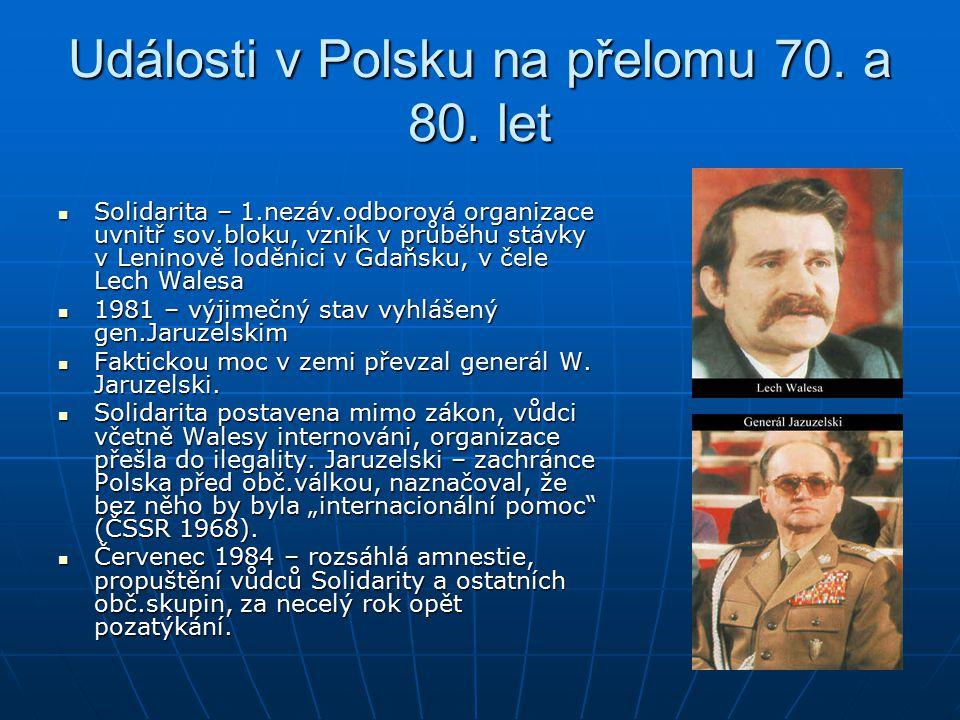 Události v Polsku na přelomu 70.a 80.