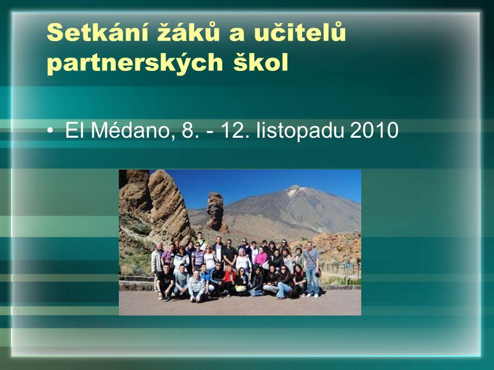 Setkání žáků a učitelů partnerských škol El Médano, 8. - 12. listopadu 2010