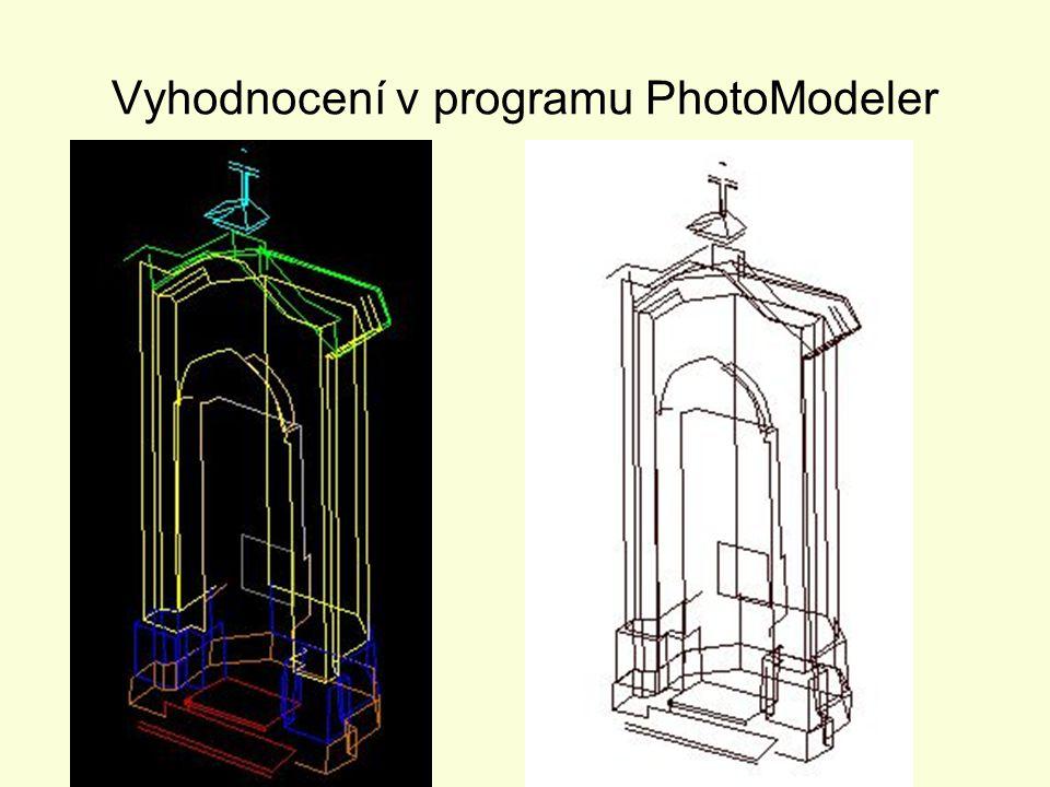 Vyhodnocení v programu PhotoModeler