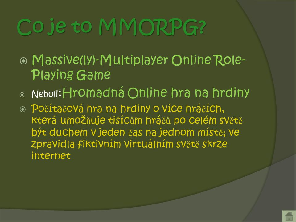 Co je to MMORPG.