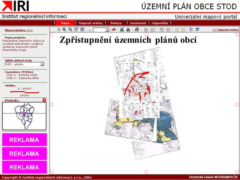 Zpřístupnění územních plánů obcí
