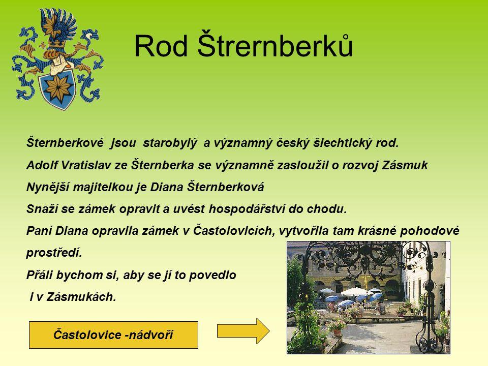 Rod Štrernberků Šternberkové jsou starobylý a významný český šlechtický rod. Adolf Vratislav ze Šternberka se významně zasloužil o rozvoj Zásmuk Nyněj