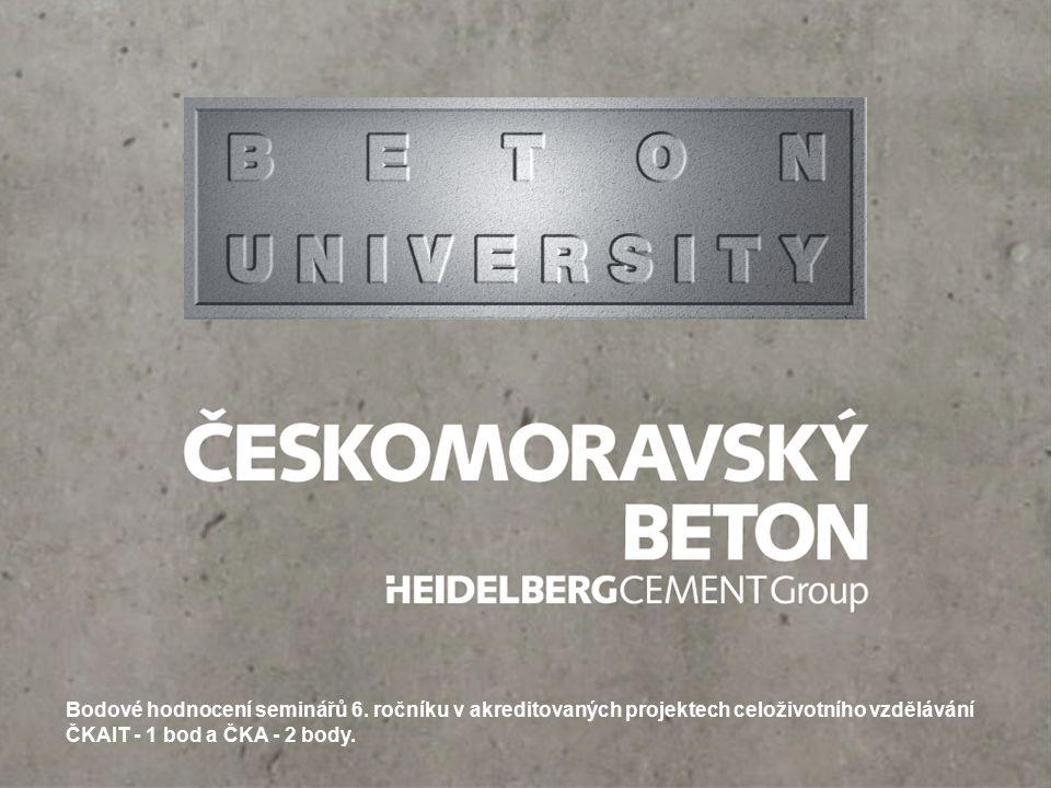Odborní partneři semináře 6. ročník Beton University - Provádění betonových konstrukcí