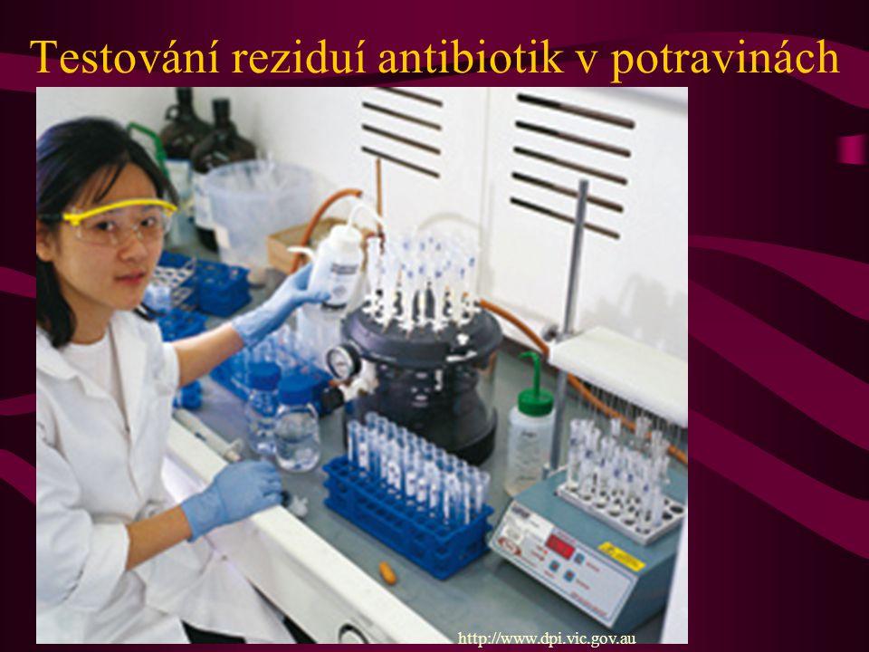 Testování reziduí antibiotik v potravinách http://www.dpi.vic.gov.au