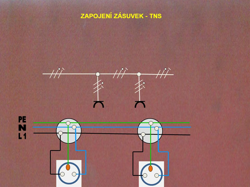 ZAPOJENÍ ZÁSUVEK - TNS