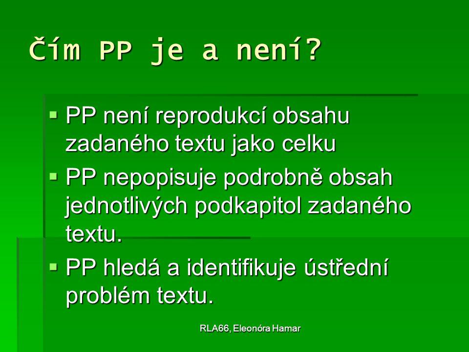 RLA66, Eleonóra Hamar Čím PP je a není.