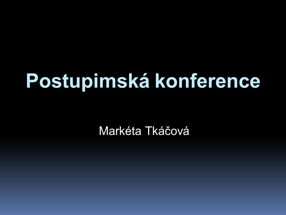 Postupimská konference Markéta Tkáčová