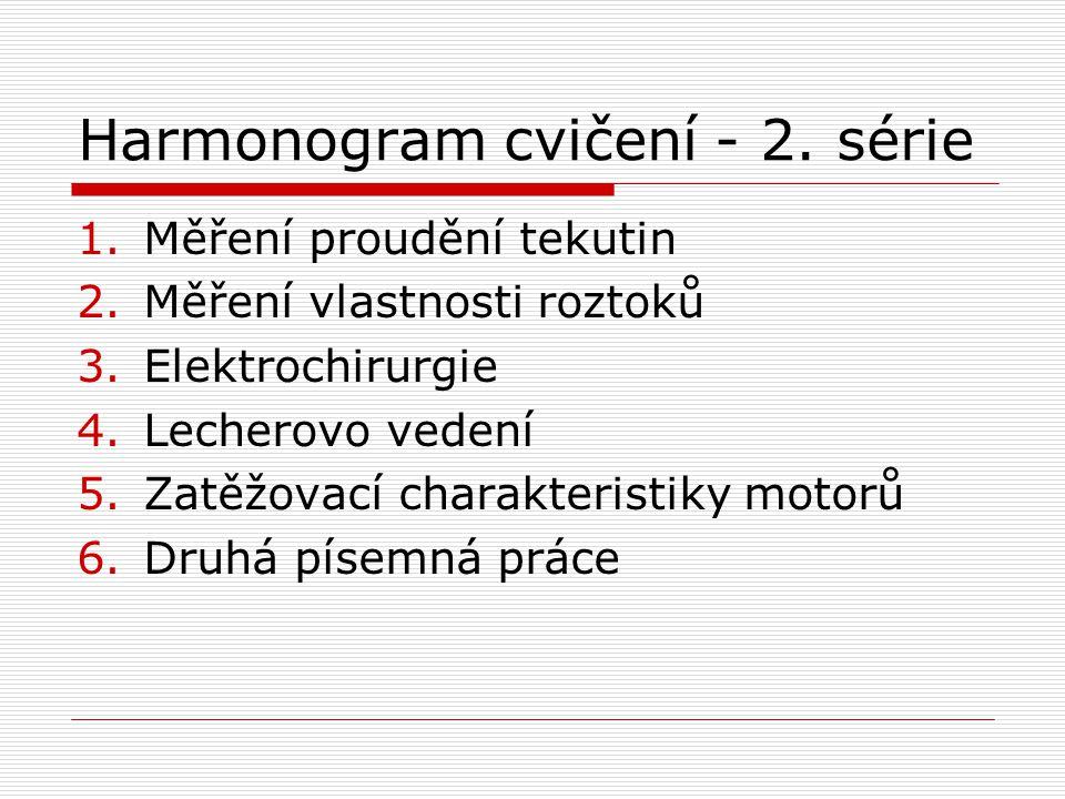 Harmonogram cvičení - 2.