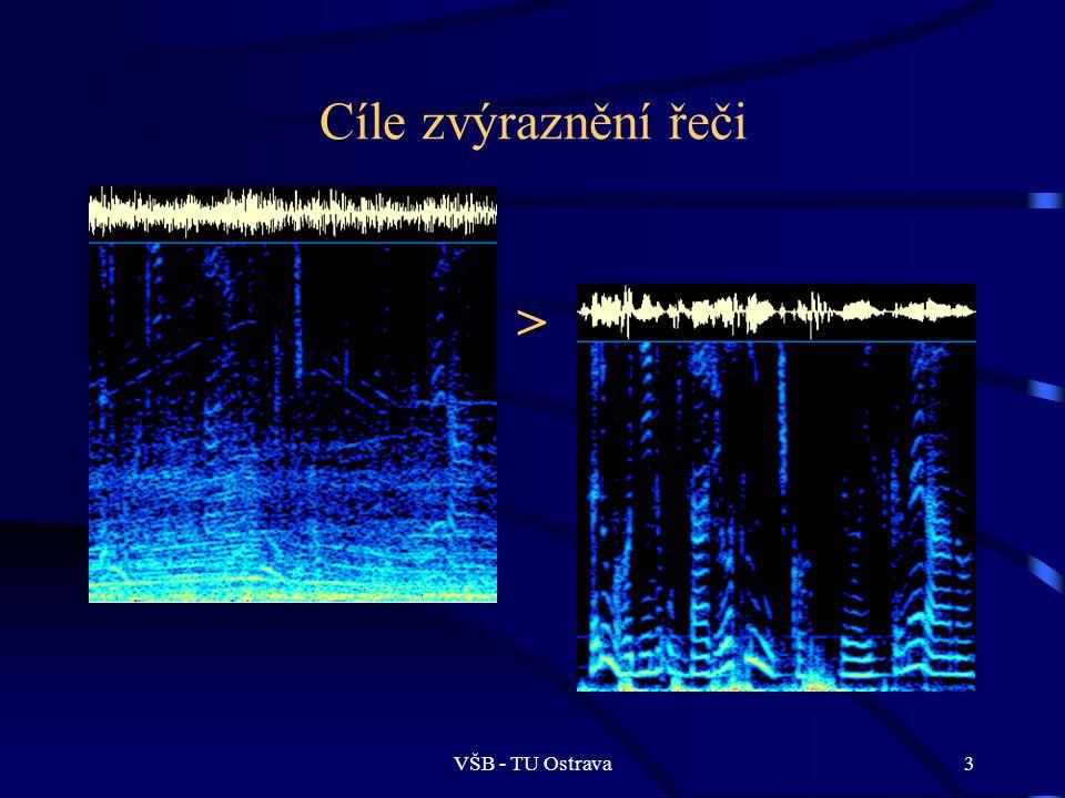 VŠB - TU Ostrava4 Téma článku: Diskrétní Wavelet transformace Aplikace WT pro metody zvýrazňování řeči