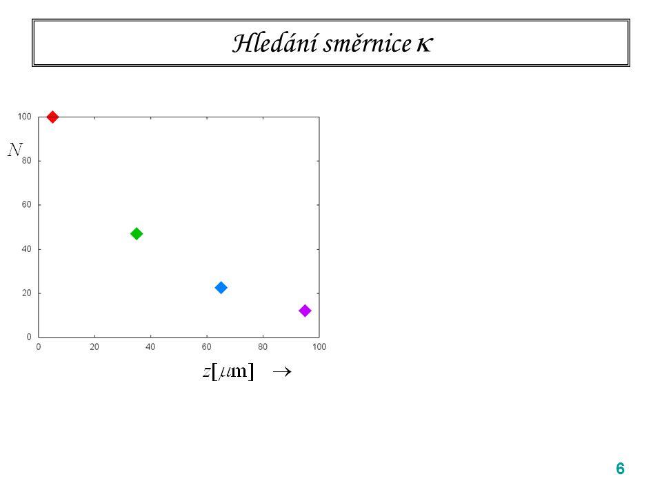 17 roztékání Brownovy částice: odvození z difusní rovnice Difusní rovnice Určíme několik nejnižších momentů jako funkci času pomocí Difusní rovnice Provedu 1D, ve vyšších dimensích obdobné.