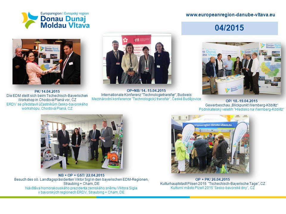 www.europeanregion-danube-vltava.eu 04/2015 PK/ 14.04.2015 Die EDM stellt sich beim Tschechisch-Bayerischen Workshop in Chodová Planá vor, CZ ERDV se