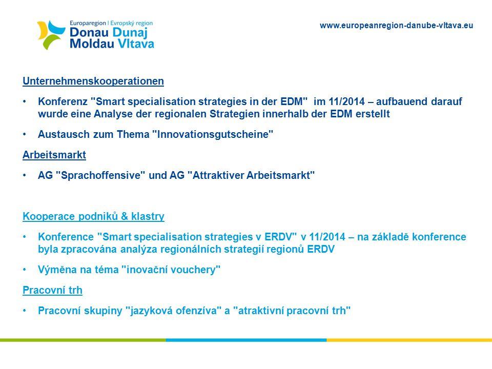 www.europeanregion-danube-vltava.eu Unternehmenskooperationen Konferenz