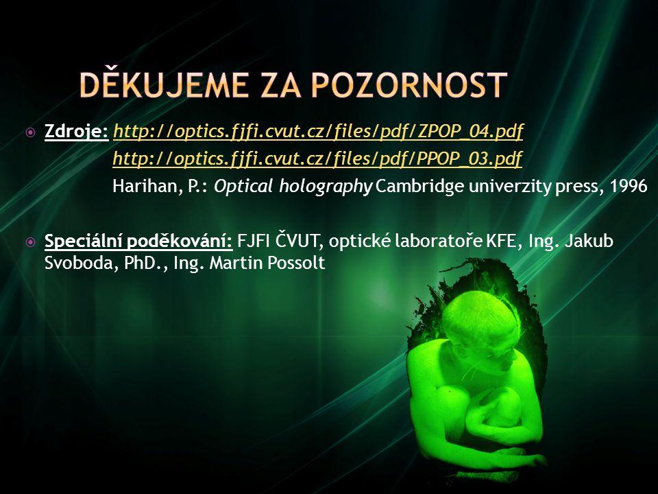  Zdroje: http://optics.fjfi.cvut.cz/files/pdf/ZPOP_04.pdfhttp://optics.fjfi.cvut.cz/files/pdf/ZPOP_04.pdf http://optics.fjfi.cvut.cz/files/pdf/PPOP_0
