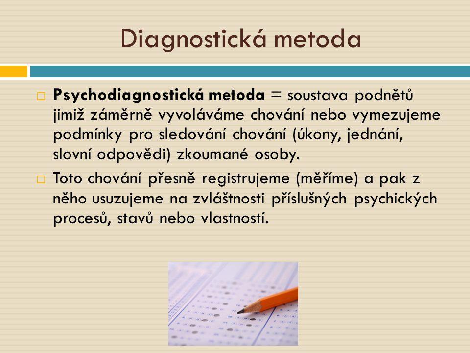 Kde se používá diagnostická činnost.