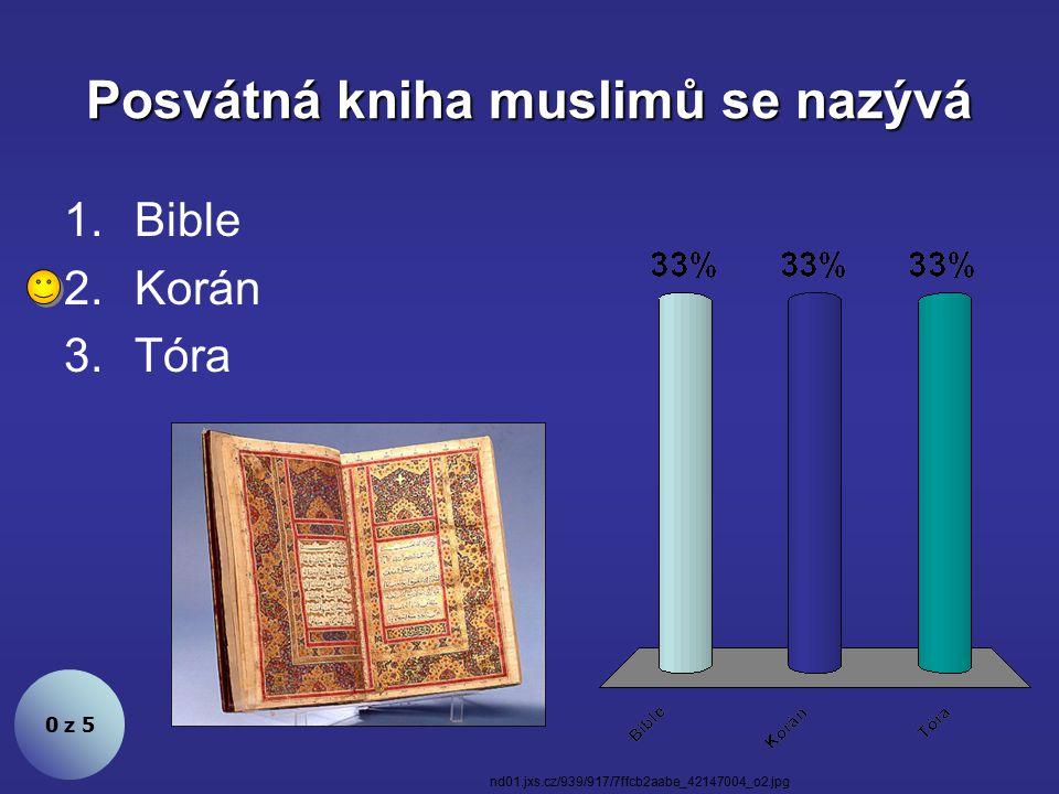 Vyznavači islámu jsou muslimové. Souhlasíte? 1.Ano 2.Ne 0 z 5