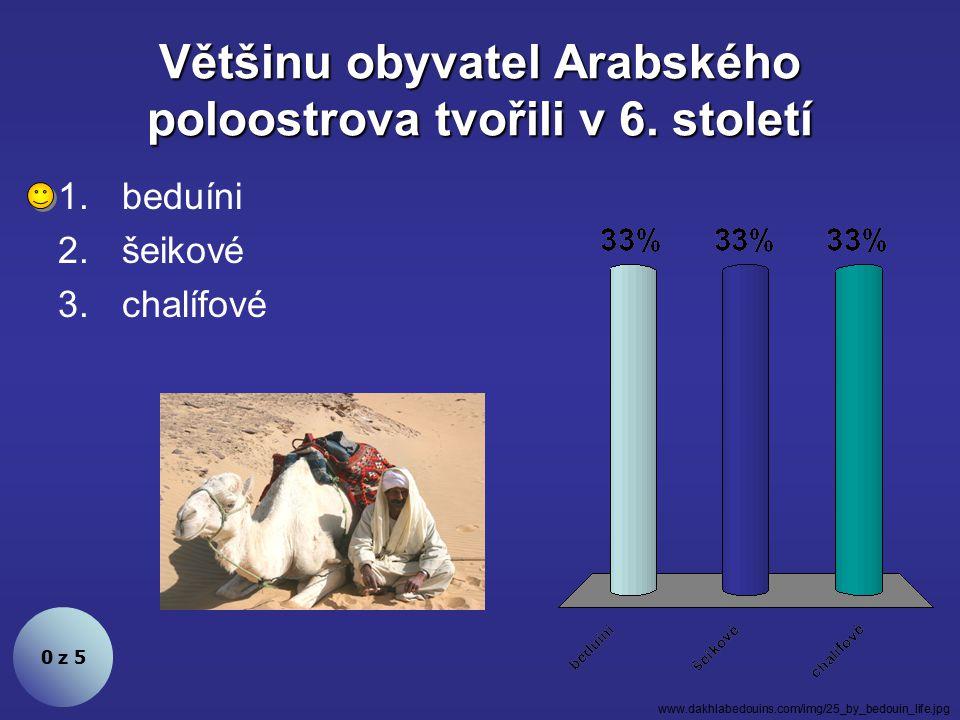 Většinu obyvatel Arabského poloostrova tvořili v 6.