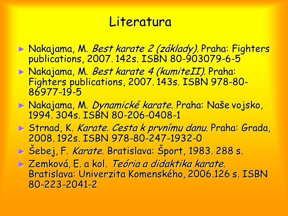 Literatura ► Nakajama, M. Best karate 2 (základy).
