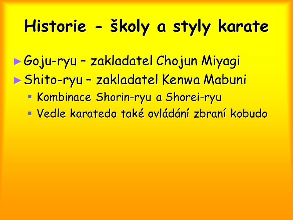Technické prostředky karate ► Kihon, kihon ido – základem jednotlivé techniky (waza) ► Kata  bunkai kumite ► Kumite