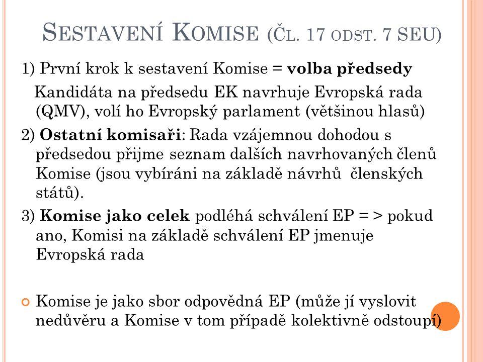 S ESTAVENÍ K OMISE (Č L.17 ODST.