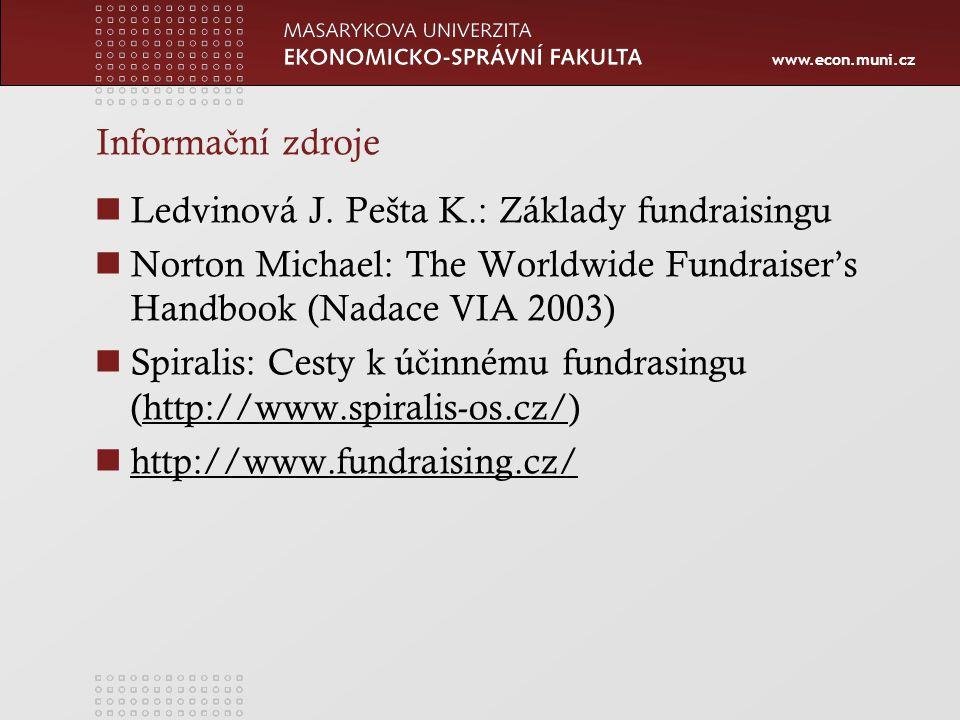 www.econ.muni.cz Informa č ní zdroje Ledvinová J.