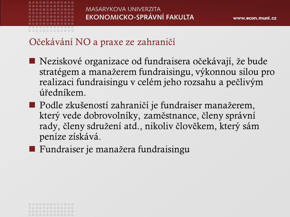 www.econ.muni.cz Firemní dárcovství Individuální dárcovství Dary mohou mít podobu Finan č ní pomoci V ě cné pomoci Lidského zdroje