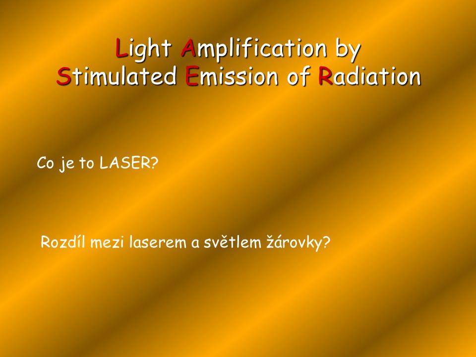 Co je to LASER.Rozdíl mezi laserem a světlem žárovky.