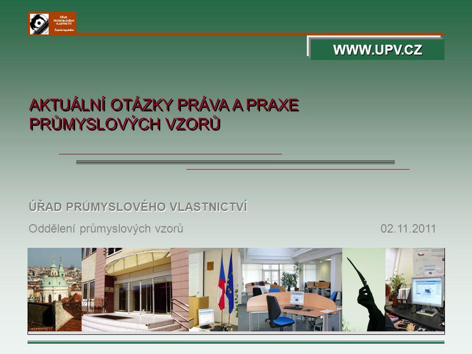 ÚŘAD PRŮMYSLOVÉHO VLASTNICTVÍ Česká republika 122 Návrh na zneplatnění průmyslového vzoru byl úspěšný a RCD byl vymazán.