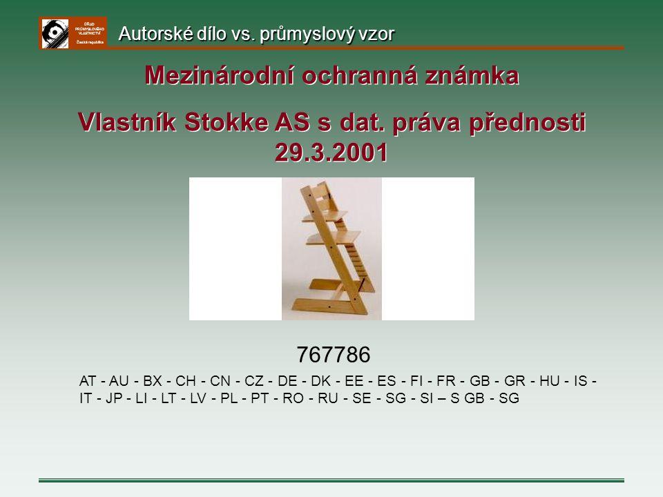 ÚŘAD PRŮMYSLOVÉHO VLASTNICTVÍ Česká republika 767786 AT - AU - BX - CH - CN - CZ - DE - DK - EE - ES - FI - FR - GB - GR - HU - IS - IT - JP - LI - LT